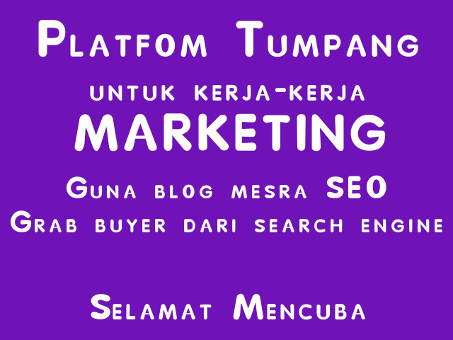 Cara grab buyer dari search engine