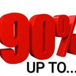 Terlajak Diskaun Sehingga 90%